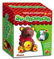 Мишка- 3-D раскраски