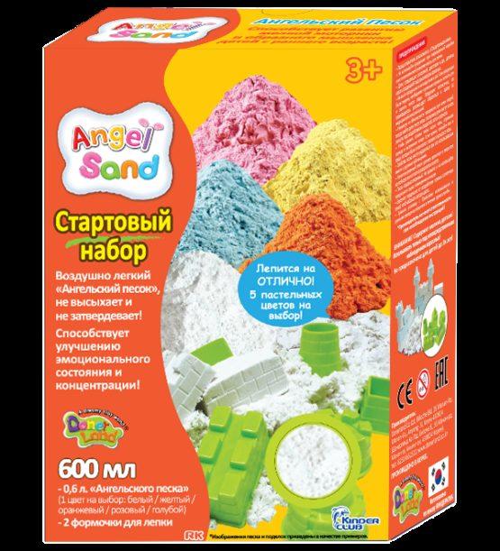 Набор песка для лепки с 2 формочками  Белый 0,6л  (на русском языке)