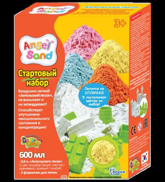 Набор песка для лепки с 2 формочками  Желтый 0,6л  (на русском языке)