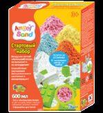 Набор песка для лепки с 2 формочками  Розовый 0,6л  (на русском языке)