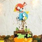 Деревянный 3D конструктор — музыкальная шкатулка Robotime «Птички»