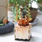 Деревянный 3D конструктор — музыкальная шкатулка Robotime «Весна»