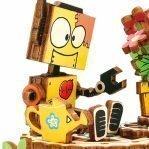 Деревянный 3D конструктор — музыкальная шкатулка Robotime «Робот с цветком»