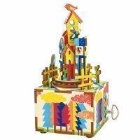 Деревянный 3D конструктор — музыкальная шкатулка Robotime «Замок в небесах»