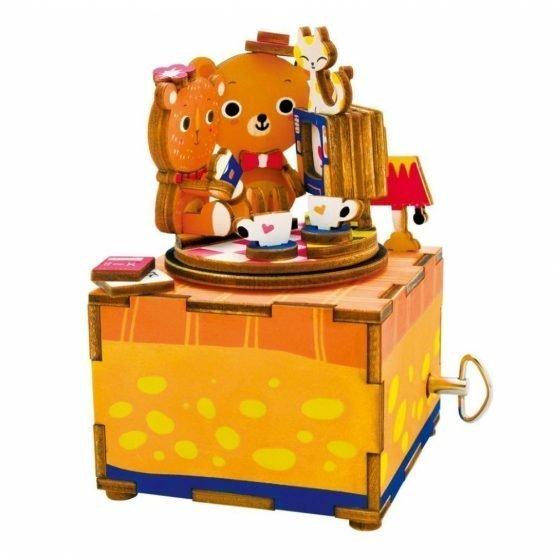 Деревянный 3D конструктор — музыкальная шкатулка Robotime «История любви»