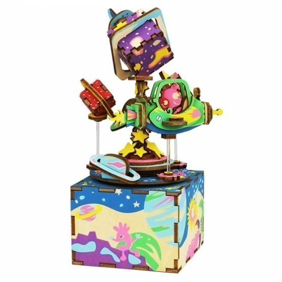 Деревянный 3D конструктор — музыкальная шкатулка Robotime «Вселенная»