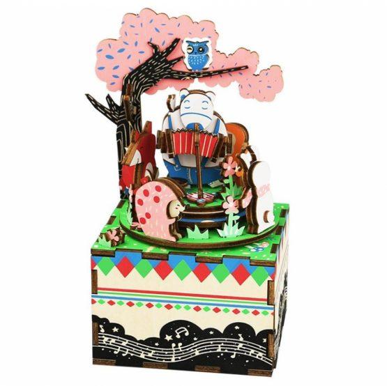 Деревянный 3D конструктор — музыкальная шкатулка Robotime «Лесной концерт»