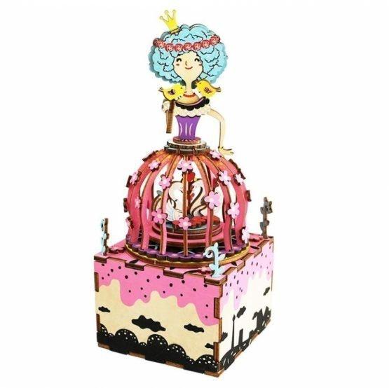 Деревянный 3D конструктор — музыкальная шкатулка Robotime «Принцесса»