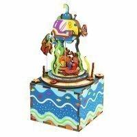 Деревянный 3D конструктор — музыкальная шкатулка Robotime «Под водой»