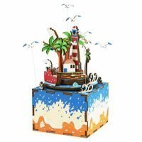 Деревянный 3D конструктор — музыкальная шкатулка Robotime «Курортный остров»
