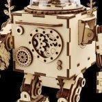 Деревянный 3D конструктор — музыкальная шкатулка Robotime «Робот Орфей»