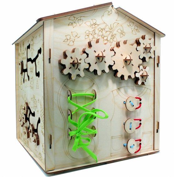Конструктор из дерева развивающий «Хэппи БизиДом»