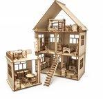 Конструктор-кукольный домик ХэппиДом «Коттедж с пристройкой и мебелью» из дерева