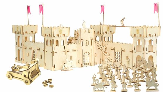 Конструктор деревянный «Крепость c рыцарями и катапультой»