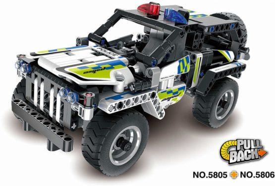 Конструктор QiHui Technics Полицейский джип инерция, 199 деталей — QH5805