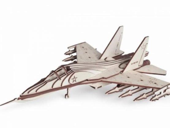 Конструктор из дерева (Российский Истребитель СУ-30)