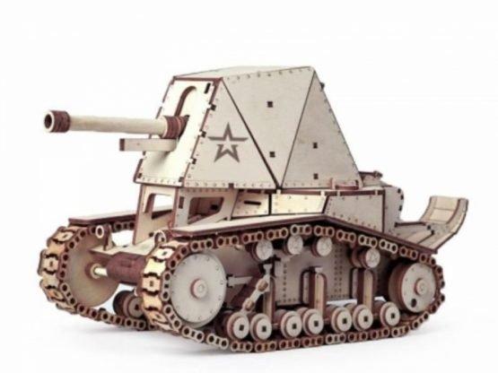 Конструктор из дерева (Танк СУ-18)