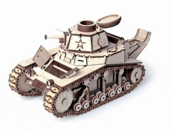 Конструктор из дерева (Танк МС-1)