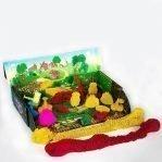 Тянущийся пластилин (масса для лепки) «Эластик «Fruit», ассорти, 360 гр. (сквуши)