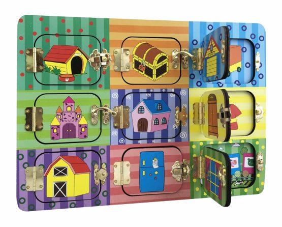 Увлекательный Бизиборд «Дверцы на замочках»