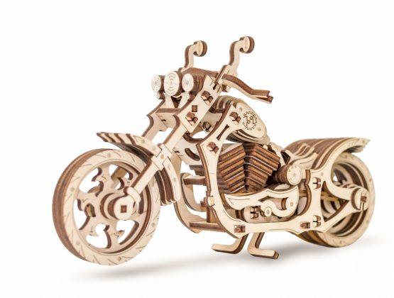 Конструктор деревянный 3D EWA Мотоцикл Cruiser