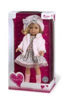 Arias ELEGANCE кукла виниловая 36 см. в платье шапочке ботиночках