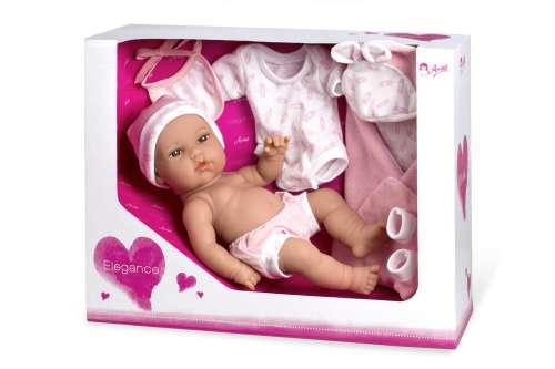 Arias ELEGANCE кукла виниловая 33 см. с пинетками одеяльцем одеждой розового цвета