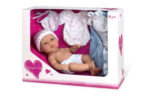 Arias ELEGANCE кукла виниловая 33 см. с пинетками одеяльцем одеждой голубого цвет