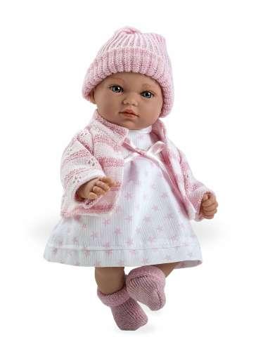 Arias ELEGANCE мягкая кукла 28 см.со звуковыми эффектами в одежде розового цвета