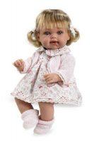 Arias ELEGANCE мягкая кукла 33 см. со звуковыми эффэктами смех с соской