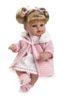Arias ELEGANCE мягкая кукла 33 см.со звуковыми эффектами смех с соской розовая