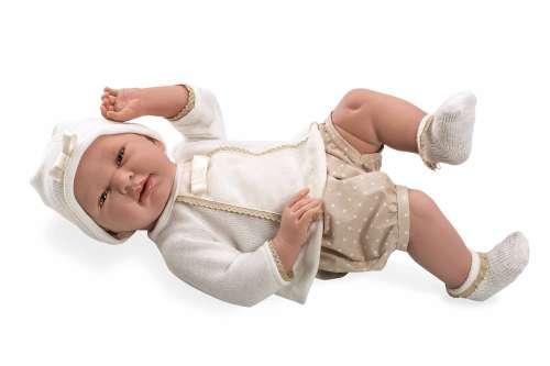Arias ELEGANCE пупс мальчик  виниловый 52 см. в бежевой одежде