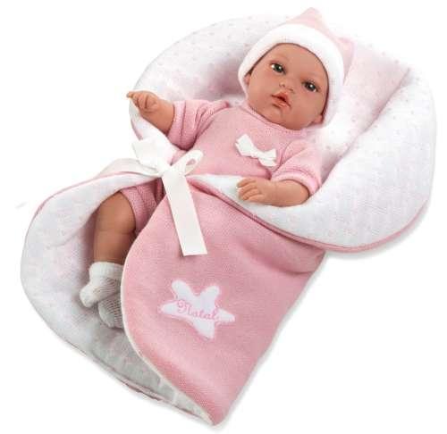 Arias Elegance пупс 33 см. в одежде мягкое тело с розовым одеялком с соской