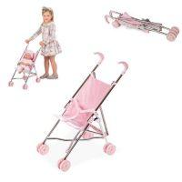 Arias Valentina коляска-трость для кукол металлический каркас эко-кожа текстиль складная