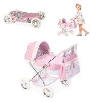 Arias Valentina коляска-люлька для кукол с сумкой металлический каркас эко-кожа текстиль складная