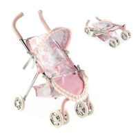 Arias Valentina коляска прогулочная для кукол металличемкий каркас эко-кожа текстиль складная
