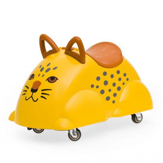 Каталка-Леопард с ручками и контейнером для хранения колесиках