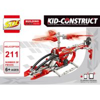 Базовый 3D-Конструктор SDL KID-CONSTRUCT «Вертолет, 211 деталей»