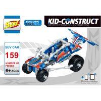 Базовый 3D-Конструктор SDL KID-CONSTRUCT «Кроссовер синий, 159 деталей»