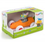 Машинка-морковка 14см, с Зайчиком, в подарочной упаковке