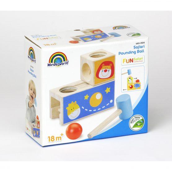 Логическая игрушка-стучалка с шариком «Сафари»