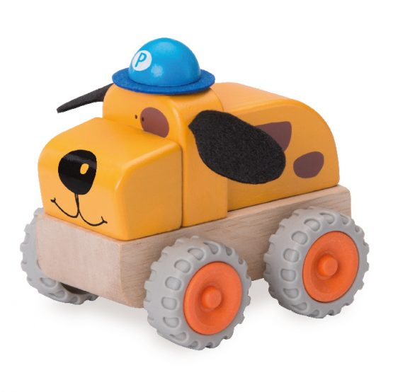 Деревянная игрушка «Полицейская машина Собачка, Miniworld»