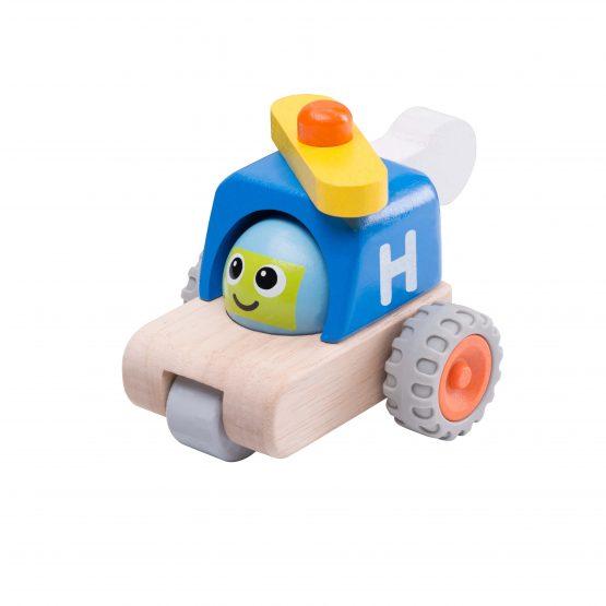 Деревянная игрушка «Вертолет с улыбкой, Miniworld»