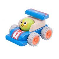 Деревянная игрушка «Гоночная машина с улыбкой, Miniworld»